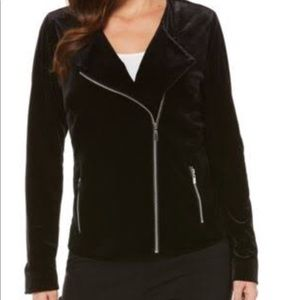 Tops - Velour Black Moto Lightweight jacket Ret $94 plus